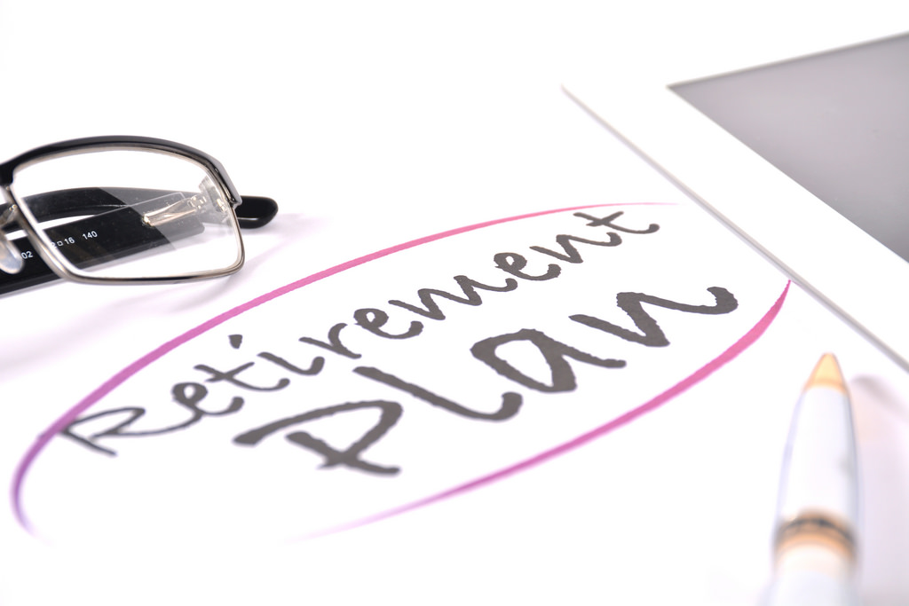 retirement planning written on paper